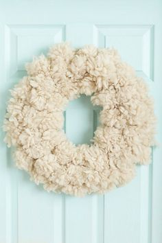 Fluffed Wool Wreath #luvocracy #design