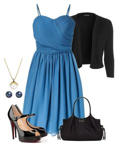 """""""Batman Ms.Mcginnis"""" by preppyandgirlie2001 ❤ liked on Polyvore featuring NIC+ZOE, Tevolio, Christian Louboutin, Kate Spade and John Lewis"""