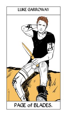 Luke Garroway's Tarot card by Cassandra Jean