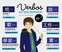 verbos: comer comprar estudiar trabajar Learn Chinese, Learn Korean, Hiragana, Chinese Sentences, Chinese Pinyin, Hello Teacher, Mandarin Language, Chinese Lessons