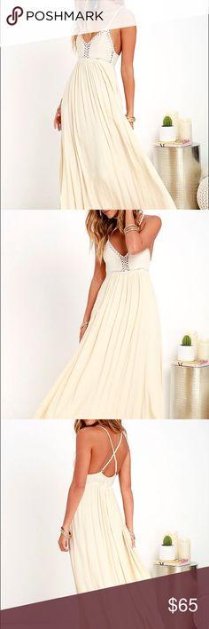 Cream maxi dress zara