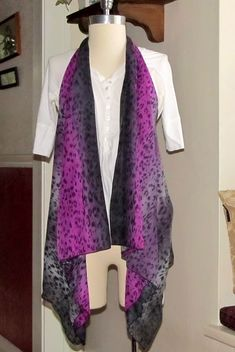 5 min Draped Vest from a scarf