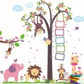 Found it at Wayfair.ca - Nursery Monkey Height Measure and Huge Elephant Animals Wall Decal