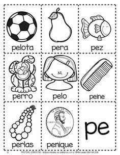 Spanish Worksheets, Preschool Worksheets, Alphabet Activities, Teaching Activities, Spanish Classroom, Spanish Lessons, Special Education, Phonics, Diy For Kids