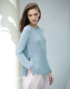 Book Woman Concept 3 Spring / Summer | 25: Woman Sweater | Light blue