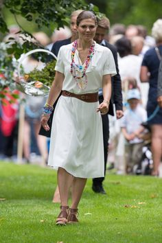 Pin for Later: Princess Victoria Celebrated Her Birthday Wearing Summer's Must-Have Shoe Which She Then Effortlessly Worked Into Her Look