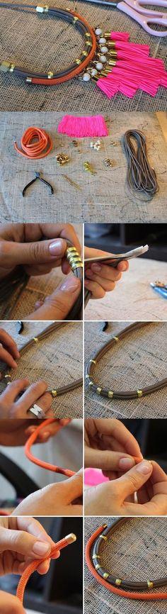 DIY collar babero