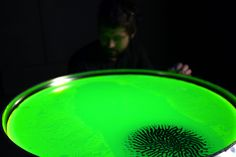 Save Lab conceived 'Solaris', a interactive installation that visualizes human brain activity through magnetic liquid.