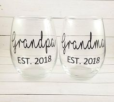 Check out this item in my Etsy shop https://www.etsy.com/listing/561724187/grandma-and-grandpa-est-2018-new-gifts