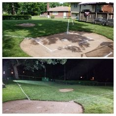 Backyard Baseball, Wiffle Ball, Baseball Field, Backyard Landscaping, Landscape Design, Fields, Daisy, Park, Sports
