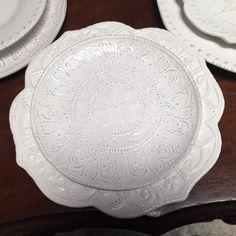 Miss match white plates