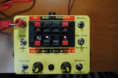 My pedal testing rig - uses JMK's Tiny Tester tone generator, and TH Custom's Headphone Mini Amp