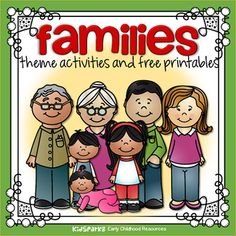Families theme activities, printables, centers and games for preschool, pre-K and Kindergarten. Preschool Family Theme, Preschool Themes, Preschool Printables, Preschool Class, Friend Activities, Preschool Learning Activities, Family Activities, Senses Activities, Toddler Activities