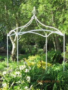 Wrought iron gazebo pergola