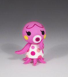 Handmade OOAK Animal Crossing Marina Fimo Sculpture by caffwin, $75.00