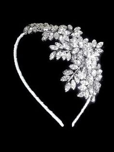 Crystal side tiara, WILLOW
