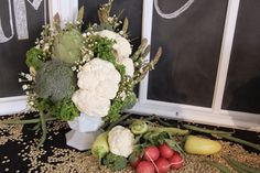 A lovely bouquet using vegetables!