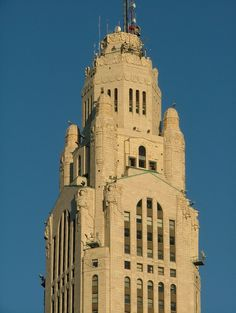 Art Deco Ornamation on the Leveque Tower – Columbus, Ohio