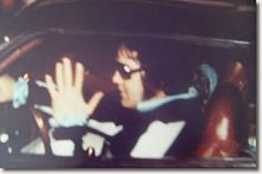 August 16, 1977 Shortly after midnight at 12.28 AM,Elvis Presleyreturns to Graceland in hisStutz Blackhawkfrom a late-night visit to his DentistDr. Lester Hofman. This photo is the last…