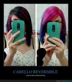 ¡Llega el pelo reversible! - Que te hará vomitar arcoíris   Gracias a http://www.cuantarazon.com/   Si quieres leer la noticia completa visita: http://www.estoy-aburrido.com/llega-el-pelo-reversible-que-te-hara-vomitar-arcoiris/