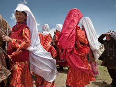 Kyrgyz women wear beautiful clothing to celebrate weddings in the Wakhan region of Afghanistan. Photograph by Matthieu Paley, National Geographic Armenia Azerbaijan, 365 Photo, Image Caption, Central Asia, People Of The World, World Cultures, Afghanistan, Celebrity Weddings, National Geographic