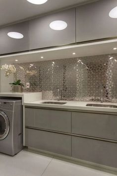 60+ Gorgeous Laundry Rooms That Will Make You Actually Want to Do Chores #laundryroomdesign #laundryroomdesignideas #laundryroomdesignlayout » inspirationations.com