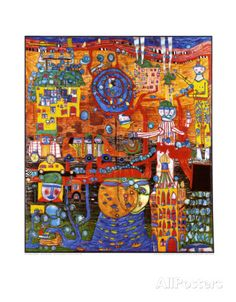 30-Days, Fax-Image Posters by Friedensreich Hundertwasser - AllPosters.co.uk