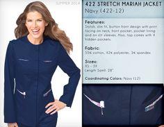 422 STRETCH MARIAH JACKET | 422-12 (Navy) CLEARANCE