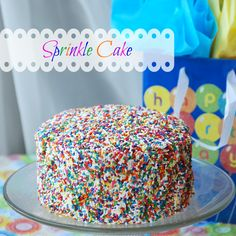Sprinkle Cake | Endlessly Inspired My daughter would like this better than anything elaborate