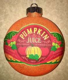 HARRY POTTER INSPIRED PUMPKIN JUICE CHRISTMAS TREE ORNAMENT HANDMADE DECORATION  | eBay