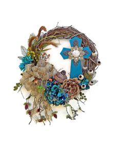 Cross wreath, Easter wreath, silk floral wreath, front door wreath, outside Wrea … – Bedroom – Wreaths Silk Flower Wreaths, Burlap Flowers, Floral Wreath, Spring Front Door Wreaths, Fall Wreaths, Christmas Wreaths, Burlap Cross Wreath, Grapevine Wreath, Burlap Wreaths