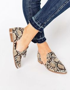 Image 1 of ASOS MELODY Pointed Flat Shoes