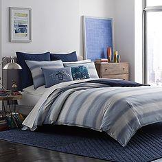 Original Penguin® Brody King Comforter Set in Medium Blue