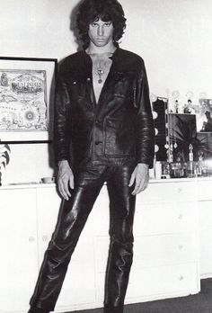 Jim Morrison works the leather.