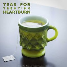 Teas for naturally treating heartburn - Certain teas can be used for treating heartburn. Check out this list and which tea's healing properties will be best for your heartburn symptoms. How To Treat Heartburn, Tea For Heartburn, Medicine For Heartburn, Heartburn Symptoms, Home Remedies For Heartburn, Natural Remedies For Heartburn, Natural Cures, Reflux Symptoms, Best Foods For Heartburn