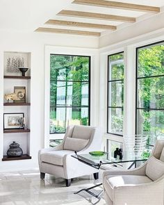Follow 🐝yonce & get posts on the daily💦 @hayleybyu Window goals via @luxemagazine. Large Windows, Steel Windows, Black Windows, Windows And Doors, Black Window Trims, Sunroom Windows, Iron Windows, Living Room Windows, David Sutherland