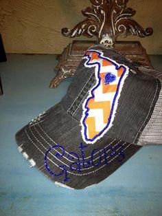 University of Florida Gators State Baseball Bling Ladies Womens Trucker Hat on Etsy, $36.00