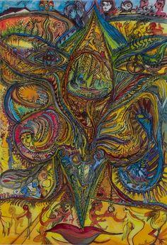 Saban, Ody; Les ailes des lèvres supérieures du visage, amoureuses, 1995, 70,5x48,5 cm, SH16646