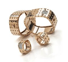 The Pois Moi cuff in rose gold and diamonds by Roberto Coin