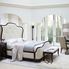 Upholstered Sleigh Bed | Bernhardt