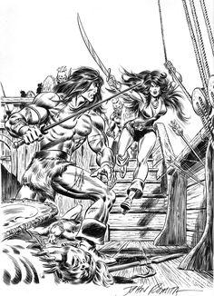 John Romita Sr., cover art for Conan #58, 1976