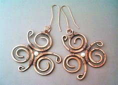Hey, I found this really awesome Etsy listing at https://www.etsy.com/ru/listing/234641993/wire-wrapped-earrings-hammered-copper