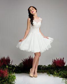 Brautkleider - Kurzes Standesamtkleid Calla - ein Designerstück von Elegance-Fashion bei DaWanda