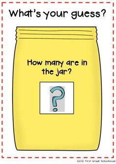 Estimation Jar Poster and printables by First Grade Schoolhouse. FREE!!! download.