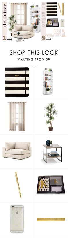 """Spring Clean!"" by pearlie-g8s on Polyvore featuring interior, interiors, interior design, home, home decor, interior decorating, Kate Spade, Royal Velvet, Cartier and Rifle Paper Co"
