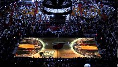 2013 Miami HEAT Ring Ceremony  3D Court Projection