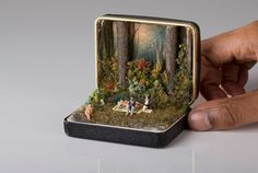 Canadian-Trinidadian artist Talwst (née Curtis Santiago) was challenged by a Parisian flea market vendor to transform an old ring box into a piece of art.