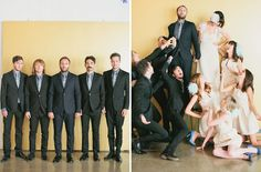 Yeah! Weddings Free Wedding: Melanie + Kelcey –Part 1 Love the bridal party pose!