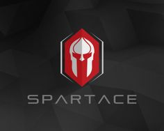 SPARTACE Logo design - SPARTACE is a perfect combination of ace and spartan helmet in the rectangle shape.Clean and professional logo design suitable for any kind of business or personal identity which requires a solid, noble and strong image like the security business, for financial or insurance purposes, business consulting, sport cars, professional sport teams, historical exhibitions and events, a cinema studio, a publishing business, heraldry, video games, motorcycle racing, an F1 team…