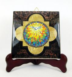 Religious gifts Holy Spirit Descending Dove by TerryTiles2014